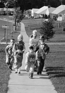 haunted house kids trick or treat